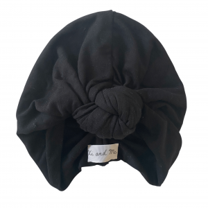 Soft Cotton Jersey Knit – Knotted Turban : Coal