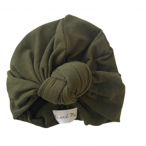 Soft Cotton Jersey Knit – Knotted Turban : Forest