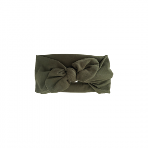 Soft Cotton Jersey Knit – Topknot Bow : Forest