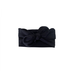 Soft Cotton Jersey Knit – Topknot Bow : Coal