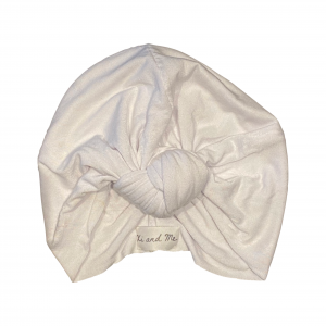 Soft Cotton Jersey Knit – Knotted Turban : Snow