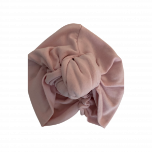 Mid Weight Cotton Jersey –  Knotted Turban : Blossom