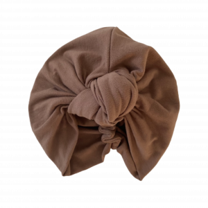 Mid Weight Cotton Jersey – Knotted Turban : Walnut