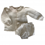 """""""Available in Other Colours"""" Unisex Peter Pan Collar Shirt and Bloomer Set (Pleated or Plain)"""
