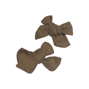 Linen Clip Bows – Mini's (Available in all Apparel Colours)