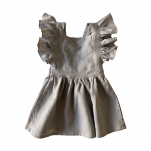 Pinafore Dress with Frills (River)